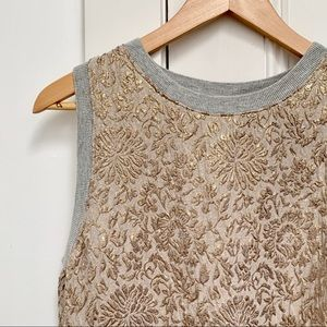 ZARA sleeveless sweatshirt with metallic detail